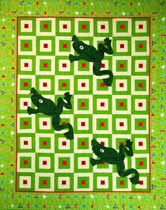 """""""Hoppy"""" from C&T Publishing's book """"Flip & Fuse Quilts"""" by Marcia Harmening of Happy Stash Quilts"""