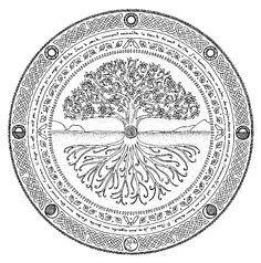 Tree of life tattoo - Geometric Tattoo L'arbre de vie – Tree of life tattoo Backpiece Tattoo, Tattoo L, Norse Tattoo, Mandala Tattoo, Geometric Tattoo Tree, Geometric Sleeve, Tree Of Life Art, Celtic Tree Of Life, Tree Of Life