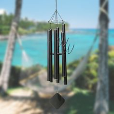 """Music Of The Spheres 60"""" Wind Chime - Hawaiian Tenor #MadeintheUSA #handtuned #soprano #whimsicalwinds #windchime   Shop for your perfect wind chime today at whimsicalwinds.com"""