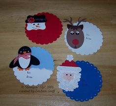 stampin up punch art | Punch art Christmas TAGS