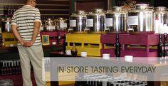 In-store tasting of devo olive oil co balsamic vinegars!!!