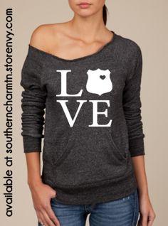 Law Enforcement Love LEO Slouchy Sweater