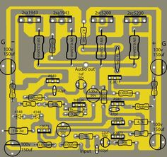 How to make transistor amplifier using 4 transostor?- How to make transistor amplifier using 4 transostor? electronics How to make transistor amplifier using 4 transostor? Amplificador 12v, Electronic Circuit Design, Circuit Board Design, Hifi Amplifier, Electronics Basics, Electronics Projects, Arduino Projects, Electronic Schematics, Powered Subwoofer
