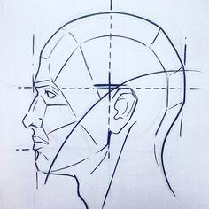 """1 Me gusta, 1 comentarios - Guz (@guz_art) en Instagram: """"Practicas de hoy algunos fragmentos ✏ #head #pen #practicas #tutorial #dessin #skull…"""""""