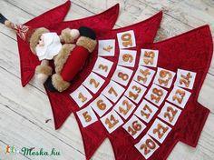 Adventi naptár - karácsonyfa, Dekoráció, Karácsonyi, adventi apróságok, Ünnepi dekoráció, Adventi naptár, Varrás, Meska