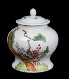 China 20. Jh. 'Tee' Gefäß -A Chinese Porcelain Jar & Cover - Chinois Vaso Cinese