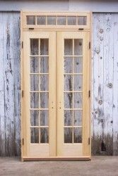 Narrow french doors for kitchen / dining room