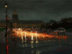 This reminds me so much of our first night in Paris. I like all of these by Russian artist Oleg Trofimov.