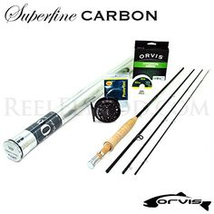 Orvis Superfine Carbon 86 Fly Rod Outfit 86 * For more information, visit image link. Topwater Lures, Fly Casting, Rod And Reel, Fly Rods, Image Link, Outdoors, Fish, Amazon, Sports