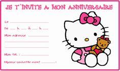 Carte invitation Hello kitty