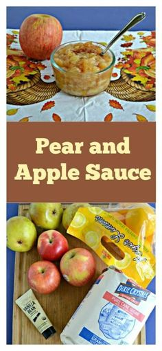 Everything you need to make a fall twist on the classic applesauce: Pear and Apple Sauce! #applerecipes #pearrecipes #applesaucerecipe #fallflavors | Apple Recipes | Pear Recipes | Applesauce Recipes | Kid Friendly Recipes | Fall Recipes | Fall Flavors | sponsored Best Apple Recipes, Pear Recipes, Fall Recipes, Snack Recipes, Applesauce Recipes, Kids Meals, Easy Meals, Apple Season, Fall Dishes