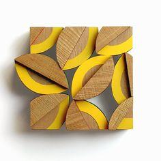 Wooden brooch. Yurina Kira