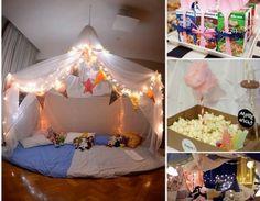 Une soirée pyjama en intérieur - fête pour enfants …