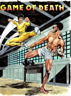 Kareem Abdul-Jabbar (Game of Death), located in Ronald 's Commission Art Work Collection Volume 2 Comic Art Gallery Bruce Lee Games, Bruce Lee Art, Bruce Lee Martial Arts, Bruce Lee Quotes, Martial Arts Movies, Martial Artists, Kung Fu, Eminem, Bruce Lee Pictures
