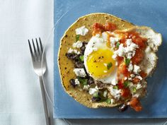 Huevos Rancheros from #FNMag #myplate #protein #grains #veggies