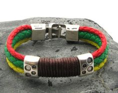 Men's leather bracelets. Brown leather wrap men's by eliziatelye