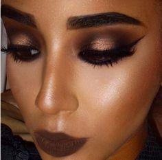 brown & bronze