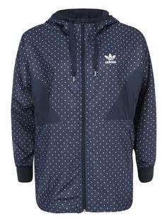 adidas Originals - Modrá dámská bunda s puntíky  Colorado - 1