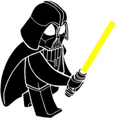 Darth Vader Mini Figure lego Wall Decal Large 24 inches 2 Colors. $15.99, via Etsy.
