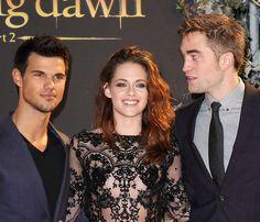 Taylor Lautner, Kristen Stewart and Robert Pattinson at the Breaking Dawn 2 premiere in London - November 2012