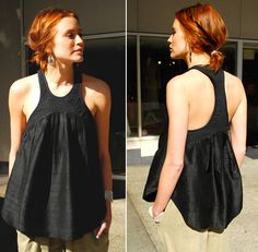 Adventures in Dressmaking: Sewing Circle: Super cool racerback top