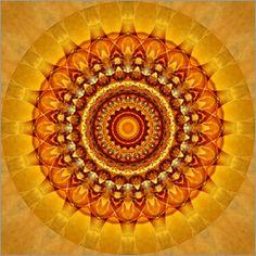 Christine Bässler - Mandala strahlendes Gelb