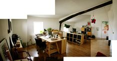 To illustrate this, here come some picture of my office, that i share with my wife in our nice france countryside home.
