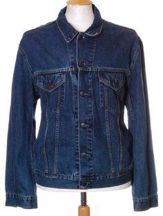 Vintage Blue Levi Strauss 70550 denim trucker jacket - Large #EasyPin