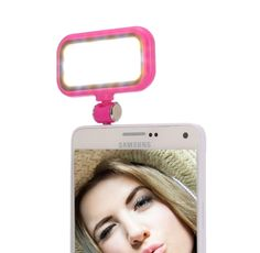 Universal Night Using Selfie 21 LED Flash Light for iPhone & Android Smartphones(Magenta)