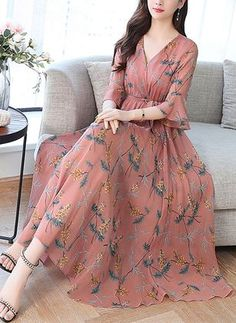 Floral Sleeveless Maxi A-line Dress - Floryday