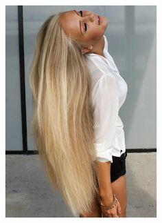 long blond hair <3