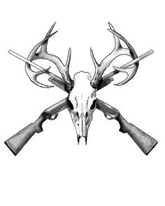 Deer Skull Tattoo by JessieDreadful.deviantart.com