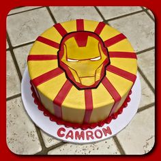 An Iron Man layer cake :)