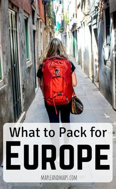 A minimalist's guide to packing for Europe in September. Travel in Europe.