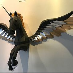 Wings Papercraft Paper angel wings Pegasus wings Do it Origami Paper Art, 3d Paper Crafts, Diy And Crafts, Paper Angel, Unicorns And Mermaids, Colorful Feathers, 3d Prints, Paper Models, Etsy App