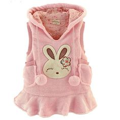 wholesale rabbit vest fall dress/ skirt/sleeveless/polar fleece dress/baby clothing/ baby vest and hat