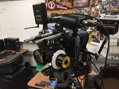 The BMCC camera fully rigged out with the TILTA BMC cage and the ikan's FGK Follow Focus.