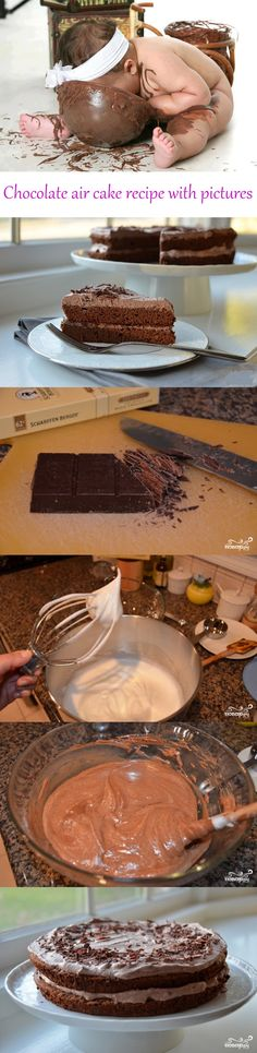 Chocolate air cake recipe with pictures #food #dessert #cake #chocolate