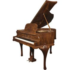 Wurlitzer C153 5 Queen Anne Baby Grand Piano Cherry