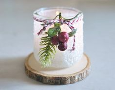 What to do with Those Cute Little French Yogurt Pots - Part Deux Crafts With Glass Jars, Small Glass Jars, Wine Bottle Crafts, Mason Jar Crafts, Mason Jars, Cup Crafts, Diy Crafts For Kids, Gift Crafts, Diy Candles