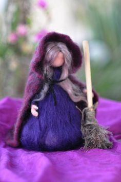 Halloween Witch-Needle felted Doll-Waldorf inspired standing doll-soft sculpture by daria.lvovsky, via Flickr