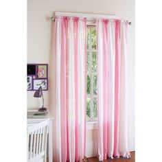 Your Zone Crushed Ombre Window Panel, 52x84, Set of 2 at walmart.com. Use for DIY princess canopy!