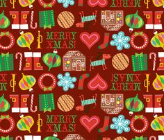 Xmas Favorite Things fabric by edward_elementary on Spoonflower - custom fabric