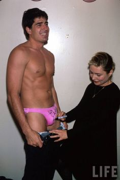 Debbie Harry autographing underpants. 1989 Blondie Debbie Harry, Life Pictures, Wrestling, Guys, History, Swimwear, Fictional Characters, Musicians, Fashion