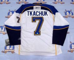 KEITH TKACHUK St. Louis Blues SIGNED Hockey Jersey . $379.05. This is an official licensed SIGNED Keith Tkachuk St Louis Blues jersey. The jersey is brand new with all of the lettering and numbering professionally sewn on. The player has beautifully signed the number. To protect your investment, a Certificate Of Authenticity and tamper evident hologram from A.J. Sports World is included with your purchase.