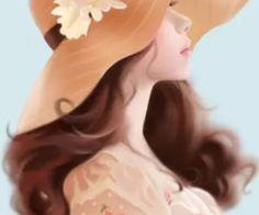 We heart it anime korea, korean anime, girly pictures, girl cartoon, Watercolour Hair, Watercolor Wallpaper, Watercolor Art, Lovely Girl Image, Girls Image, Cute Girl Wallpaper, Trendy Wallpaper, Wallpaper Ideas, Girl Artist
