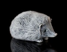 Hedgehog Marble Statue Russian Handmade Collectible Statuette Animal Figurine