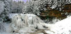 Blackwater Falls even freeze solid,