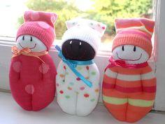 3 dorminhocos mini | three mini sock dolls