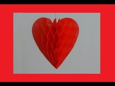 How to make paper honeycomb heart - DIY Valentine's day craft - YouTube